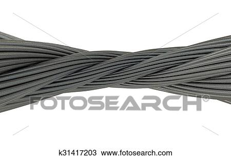 Drawing Of Metal Thick Wreath Twisted Wire K31417203 Search