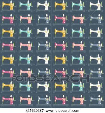 Clip Art - nähmaschinen, muster k25620287 - Suche Clipart, Poster ...