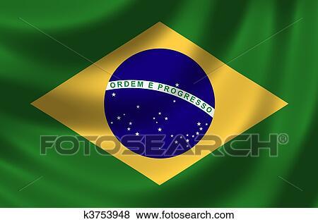 vlag, van, brazilie stock illustraties | k3753948 | fotosearch