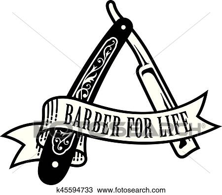 clipart of barber for life design k45594733 search clip art rh fotosearch com clipart barber shop barber clipart png