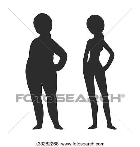 Fat Person Silhouette Thin Person Stock Illustrations – 631 Fat Person  Silhouette Thin Person Stock Illustrations, Vectors & Clipart - Dreamstime