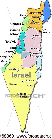 Clip Art   Israel Map. Fotosearch   Search Clipart, Illustration Posters,  Drawings,