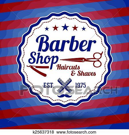 Clip art vettore retro stilizzato segno per negozio for Simbolo barbiere