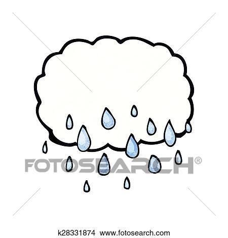 dessin nuage pluie dessin anim - Dessin De Nuage