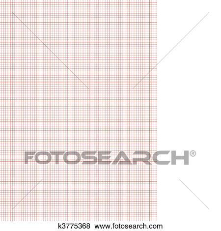 ورقة الرسم للبيان A4 الصفيحة الأحمر Clip Art K3775368