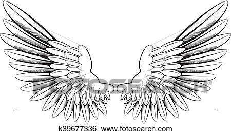 天使翼 イラスト K39677336 Fotosearch