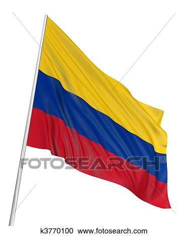stock illustrations of 3d colombian flag k3770100 search clipart