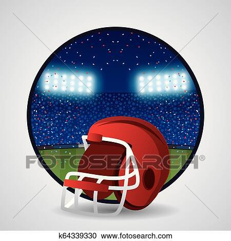 American Football Helmet Clipart K64339330 Fotosearch