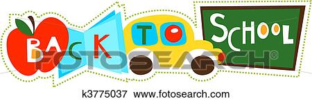 Clip Art Of Back To School Collage K3775037 Search Clipart