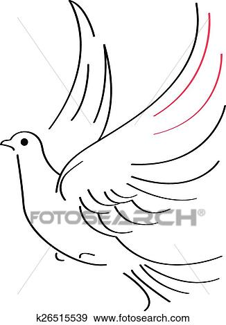 clip art dove sketch fotosearch search clipart illustration posters drawings