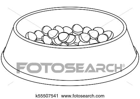 line art black and white pet food bowl clipart k55507541 fotosearch fotosearch