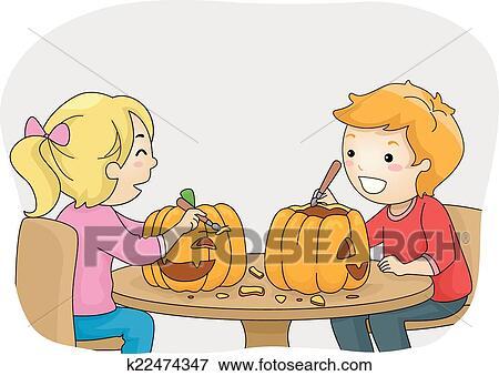 clip art of pumpkin carving k22474347 search clipart illustration rh fotosearch com pumpkin carving clipart free pumpkin carving clipart free