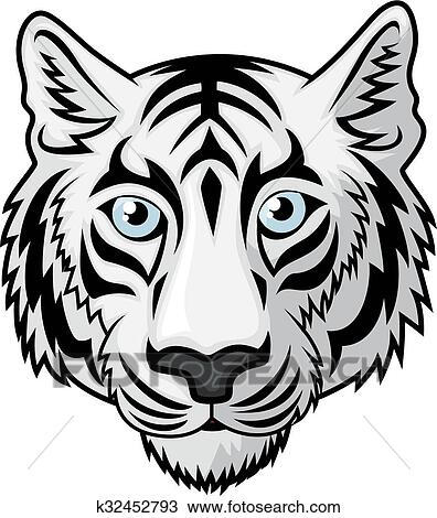 Tigre Blanc Tête Clipart