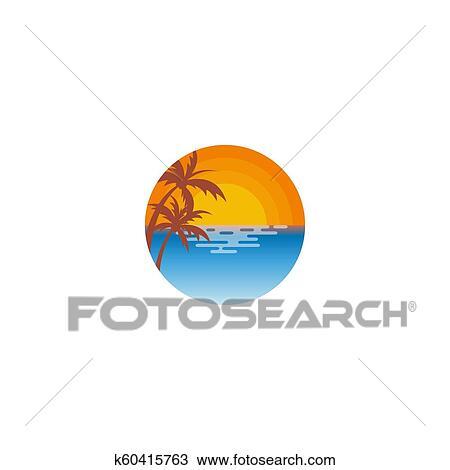 Beach Logo Design Clipart K60415763 Fotosearch