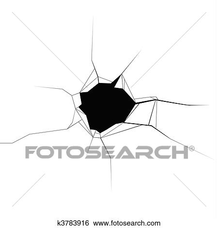 clip art of bullet hole k3783916 search clipart illustration rh fotosearch com bullet holes clipart free Trump Bullet Hole Clip Art