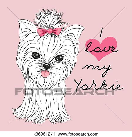 Clipart Of Cute Yorkshire Terrier K36961271 Search Clip Art