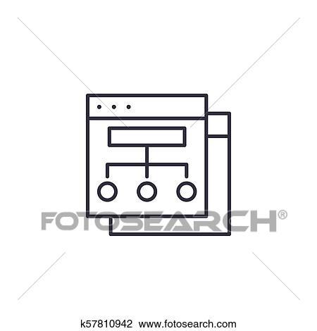 Sitio Web Estructura Lineal Icono Concept Sitio Web
