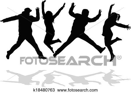 clipart of young people on the party k18480763 search clip art rh fotosearch com Young People Images Graphics Young and Old Person Clip Art