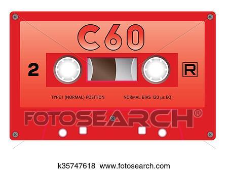 型 カセットテープ イラスト K35747618 Fotosearch