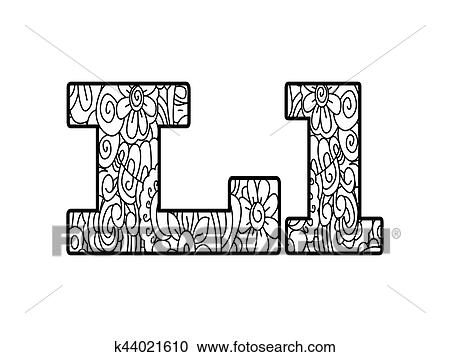 Coloring Book Alphabet Letters