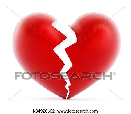 Corazón Roto Dibujo K34920532 Fotosearch