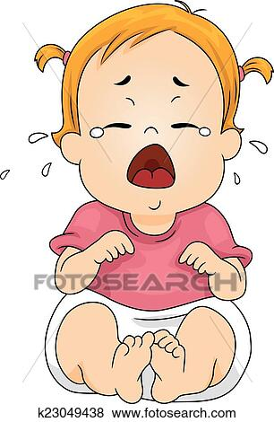 clip art of crying baby k23049438 search clipart illustration rh fotosearch com crying baby clip art photos crying baby pictures clip art
