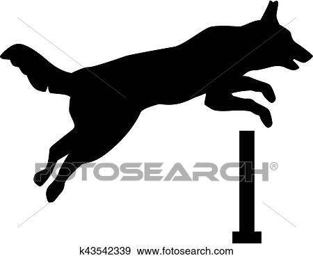 clip art of dog jumping over hurdle k43542339 search clipart rh fotosearch com  hurdle clipart free