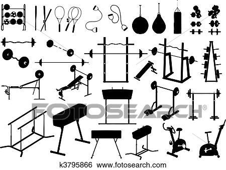 Gym Equipment Vector Clip Art K3795866