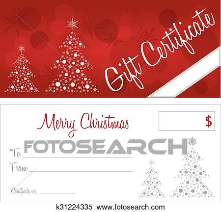 clipart of red christmas gift certificate k31224335 search clip
