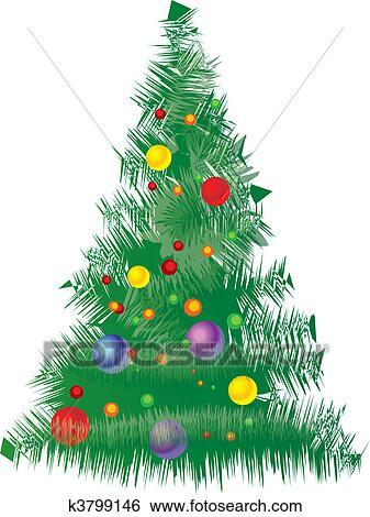 Vector Christmas Tree.Vector Christmas Tree Clip Art