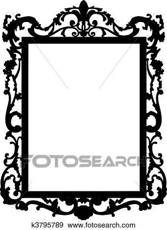 clip art of vintage frame vector k3795789 search clipart rh fotosearch com vintage frame vector svg vintage frame vector photoshop