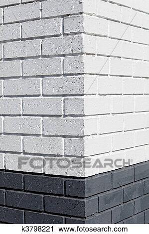 White Brick Wall Corner Stock Image