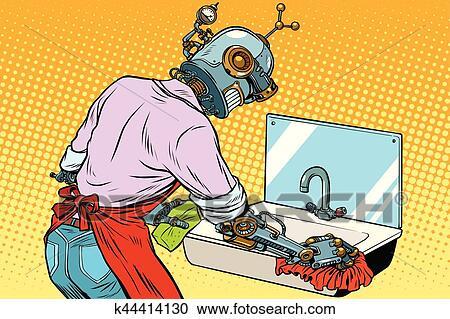 Eigenheim, putzen, wäsche, kueche, ausgüsse, roboter, arbeiten ...
