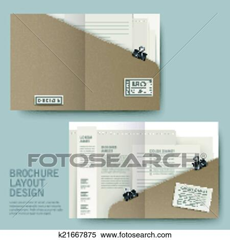 clipart of modern half fold template for business advertising