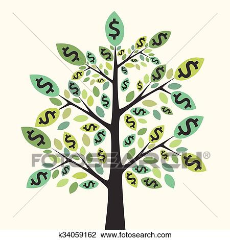 clipart of money tree success concept k34059162 search clip art rh fotosearch com Money Bag Clip Art Save Money Clip Art