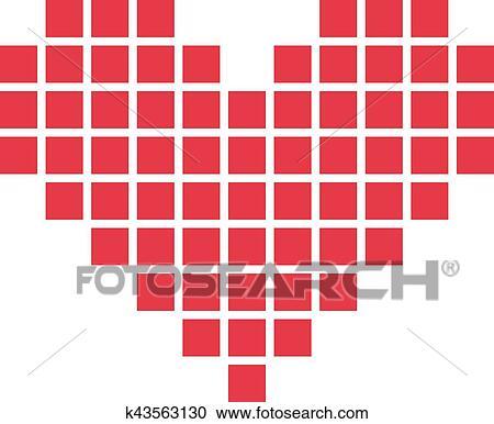 Pixel Heart Clipart
