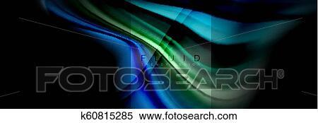 Rainbow Fluid Abstract Shapes Liquid Colors Design