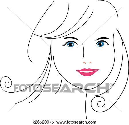 Rosto Mulher Desenho Clipart K26520975 Fotosearch