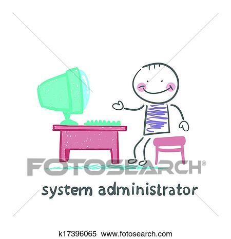 Clipart System Verwalter Arbeit K17396065 Suche Clip Art