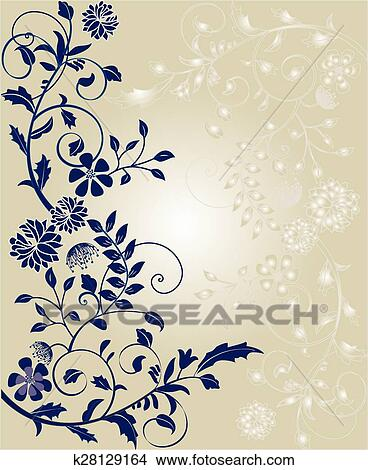 clipart of vintage invitation card with ornate elegant retro