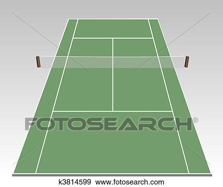 テニスコート イラスト K3814599 Fotosearch