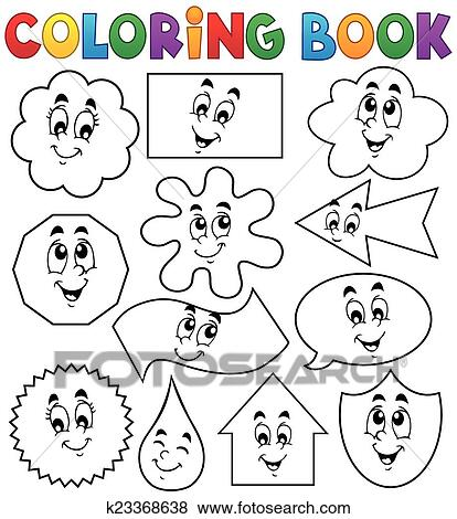 Clip Art of Coloring book various shapes 2 k23368638 - Search ...