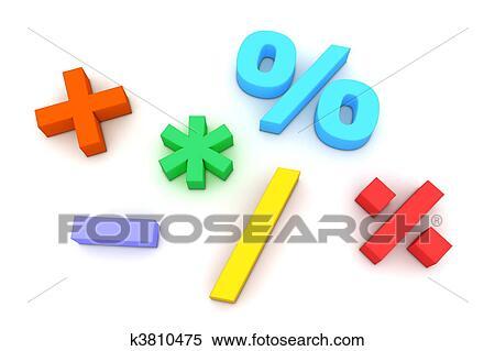 Stock Illustration Of Colourful Mathematical Symbols K3810475