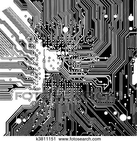 clipart of computer circuit board vector k3811151. Black Bedroom Furniture Sets. Home Design Ideas