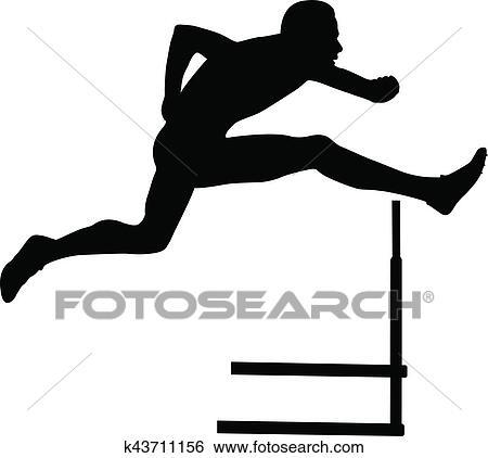 clip art of sprinter runner men running hurdles k43711156 search rh fotosearch com hurdle clipart free