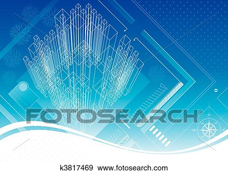 Clip art of structure blueprint k3817469 search clipart abstract architecture structure blueprint design vector layered malvernweather Choice Image