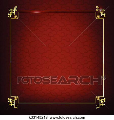 abstract dark and red background for happy chinese new year oriental and traditional wave cloud symbole element vector illustration