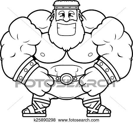 Clip Art Of Smiling Cartoon Zeus K25890298