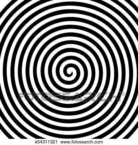 Black White Round Abstract Vortex Hypnotic Spiral Wallpaper Clipart K54311321 Fotosearch