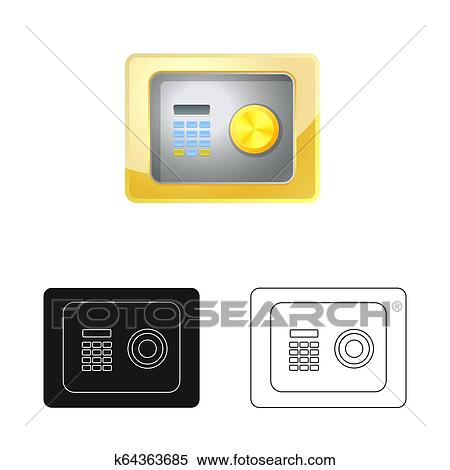 Design On Stock Bank.Isolated Object Of Bank And Money Icon Set Of Bank And Bill